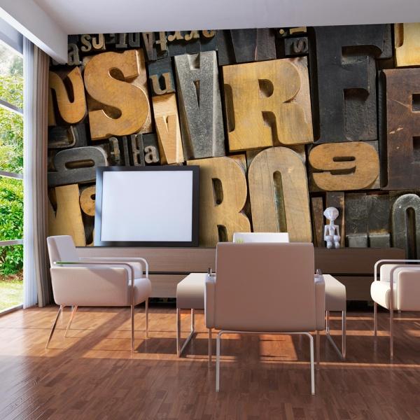 Fototapeta - Litery z drewna (550x270 cm) A0-F5TNT0024-P