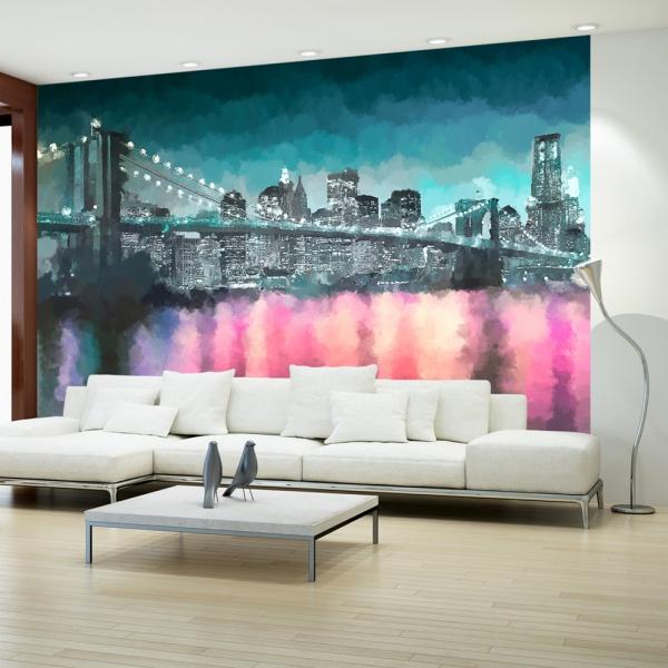 Fototapeta - Malowany Nowy Jork (300x210 cm) A0-XXLNEW010260