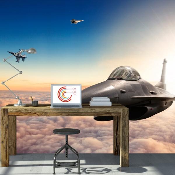 Fototapeta - Myśliwce F16 (300x210 cm) A0-XXLNEW011129