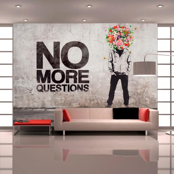 Fototapeta - No more questions (300x210 cm) A0-XXLNEW010326