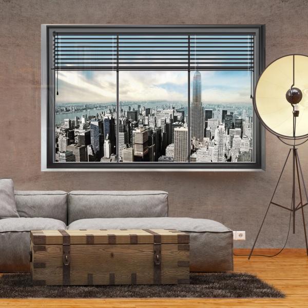 Fototapeta - Nowojorskie okno (300x210 cm) A0-XXLNEW010205