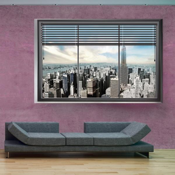Fototapeta - Nowojorskie okno II (300x210 cm) A0-XXLNEW010204