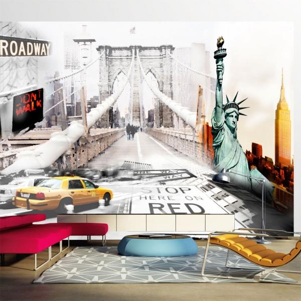Fototapeta - Nowojorskie ulice (300x210 cm) A0-XXLNEW010106