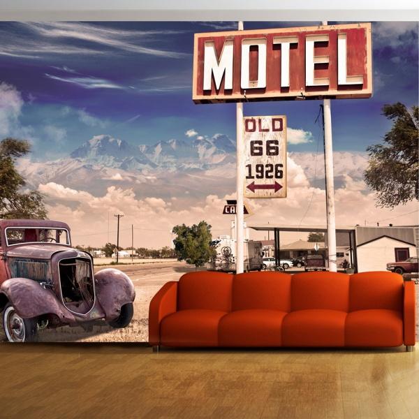 Fototapeta - Old motel (300x210 cm) A0-XXLNEW010196