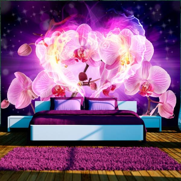 Fototapeta - Orchidee w płomieniach (300x210 cm) A0-XXLNEW010331