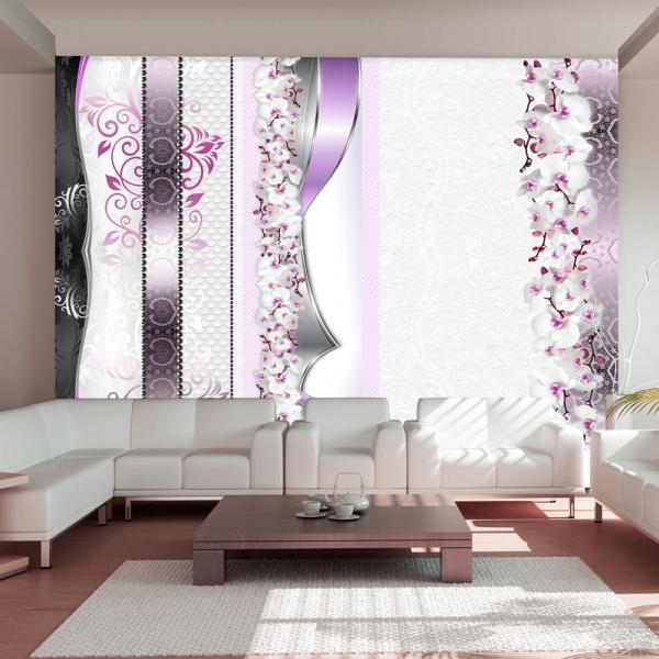 Fototapeta - Parada orchidei w fiolecie (300x210 cm) A0-XXLNEW010406