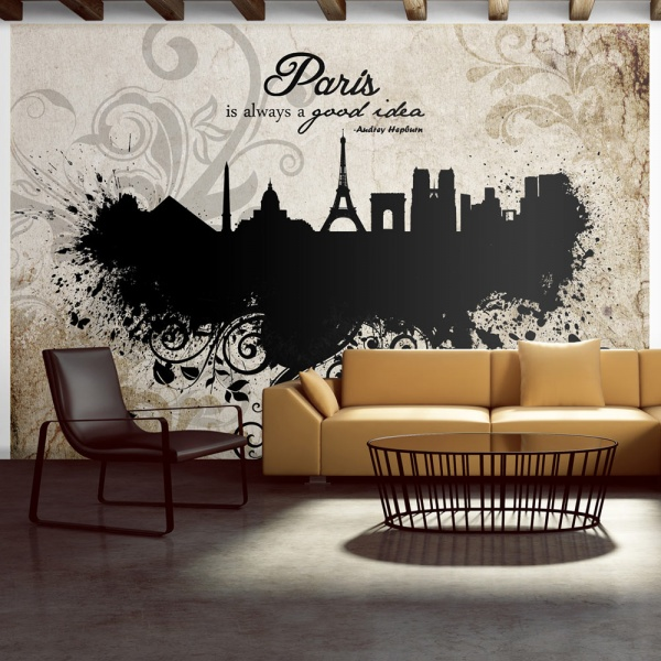Fototapeta - Paris is always a good idea - vintage (300x210 cm) A0-XXLNEW010428