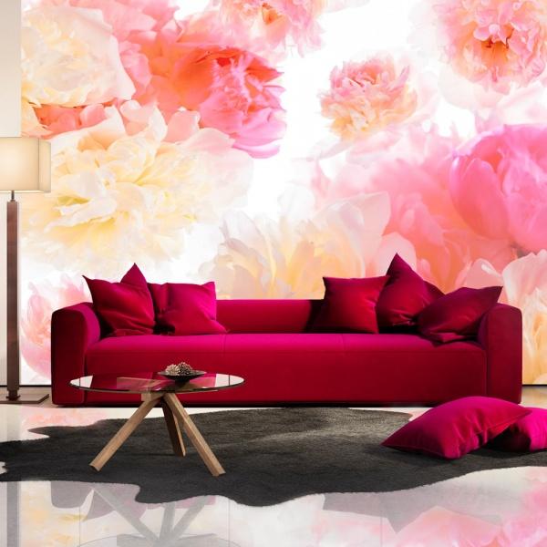 Fototapeta - Pastelowe piwonie (300x210 cm) A0-XXLNEW010923