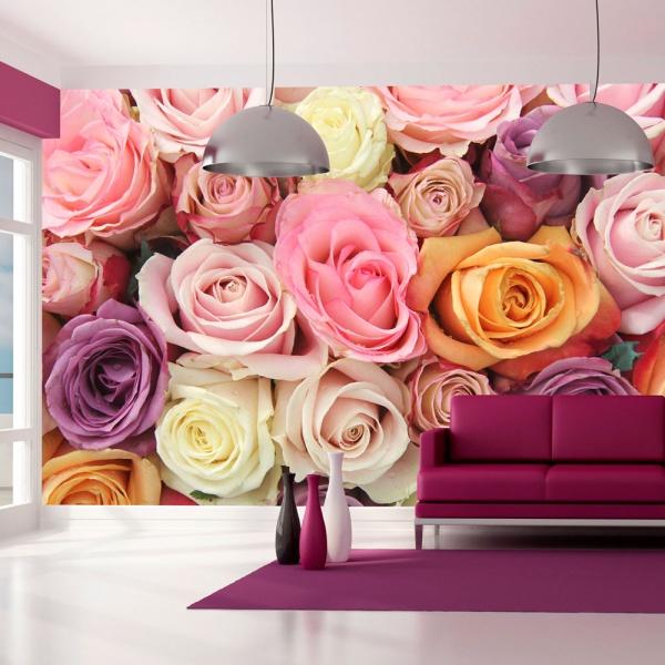 Fototapeta - Pastelowe róże (450x270 cm) A0-F4TNT0518
