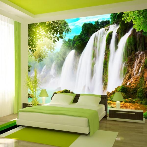 Fototapeta - PIękno natury: wodospad (300x210 cm) A0-XXLNEW010774