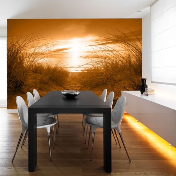 Fototapeta - plaża (sepia) (300x210 cm) A0-XXLNEW010102