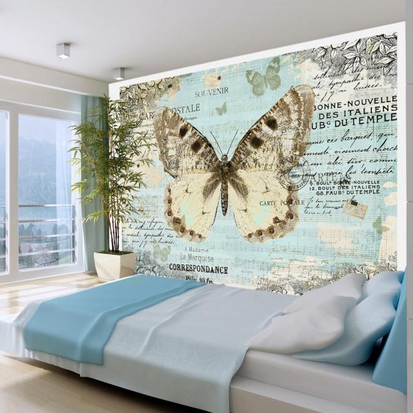 Fototapeta - Pocztówka z motylem (300x210 cm) A0-XXLNEW010217