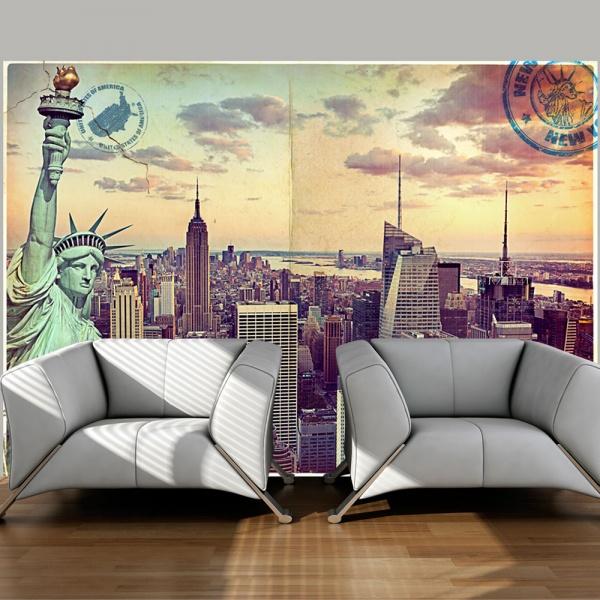 Fototapeta - Pocztówka z Nowego Jorku (300x210 cm) A0-XXLNEW010246