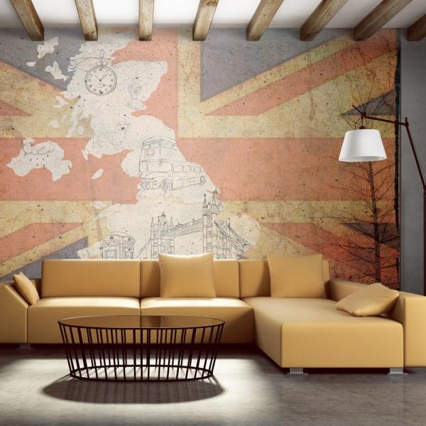 Fototapeta - Pocztówka z Wielkiej Brytanii (450x270 cm) A0-F4TNT0126-P