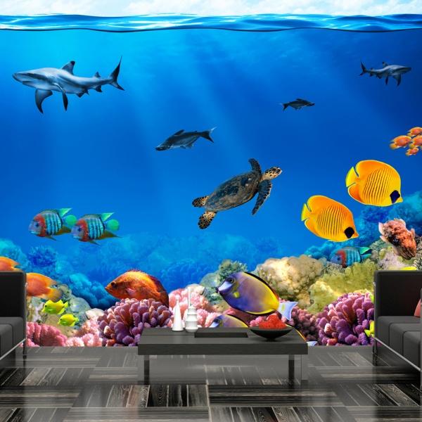 Fototapeta - Podwodne królestwo (300x210 cm) A0-XXLNEW010146