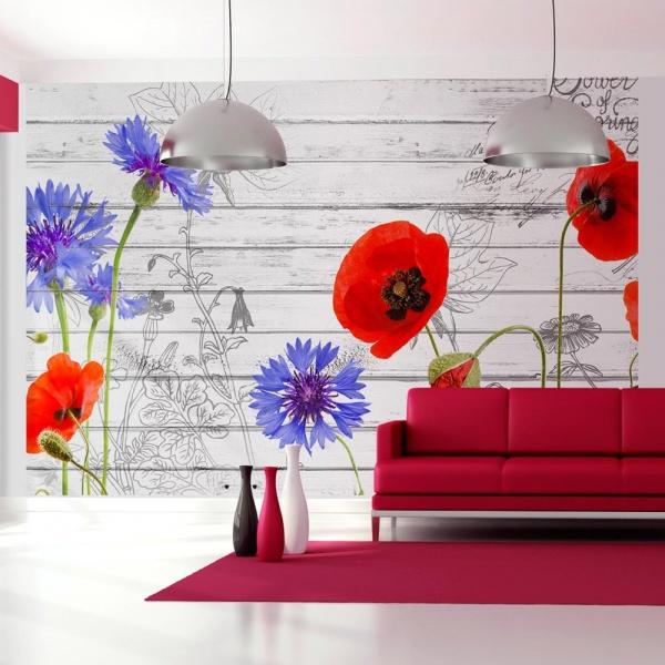 Fototapeta - Polne kwiaty (300x210 cm) A0-XXLNEW010300