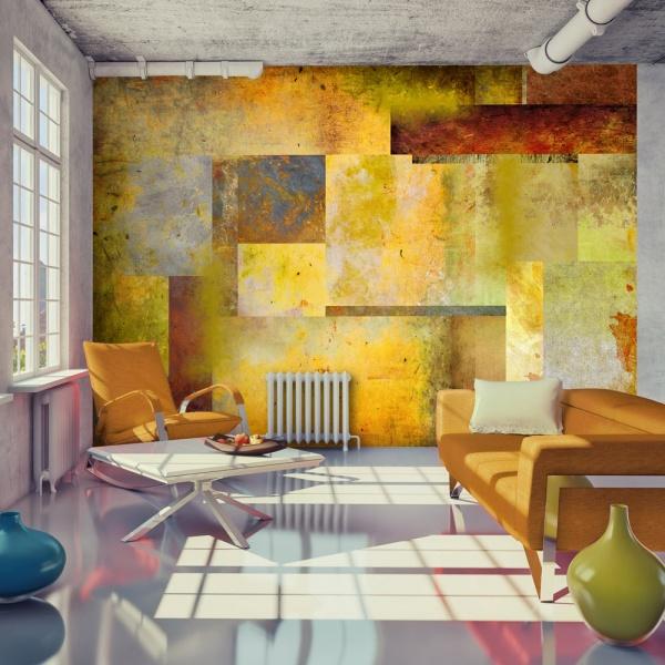 Fototapeta - Pomarańczowy odcień ekspresji (300x210 cm) A0-XXLNEW011518