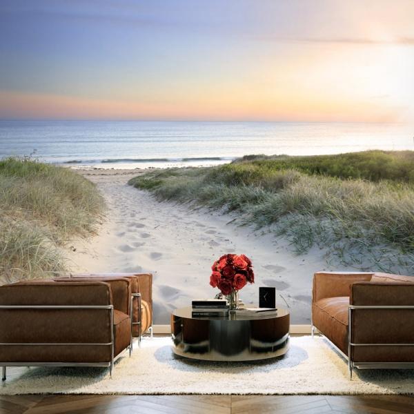 Fototapeta - Poranny spacer po plaży (300x210 cm) A0-XXLNEW010912