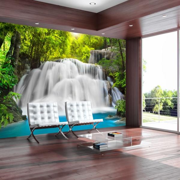Fototapeta - Przy wodospadzie (300x210 cm) A0-XXLNEW010708