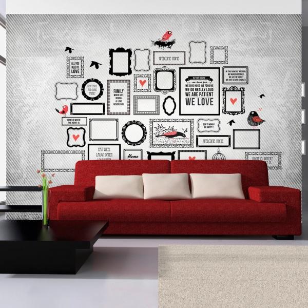 Fototapeta - Rodzinne motto (300x210 cm) A0-XXLNEW010658