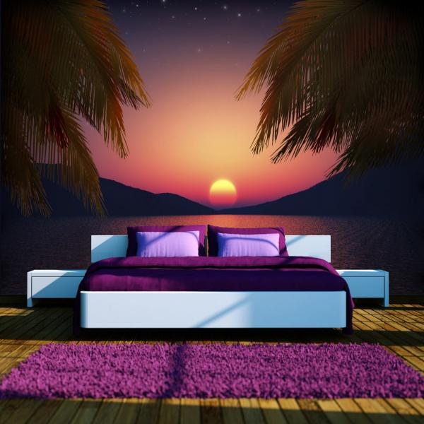 Fototapeta - Romantyczny wieczór na plaży (300x210 cm) A0-XXLNEW011138