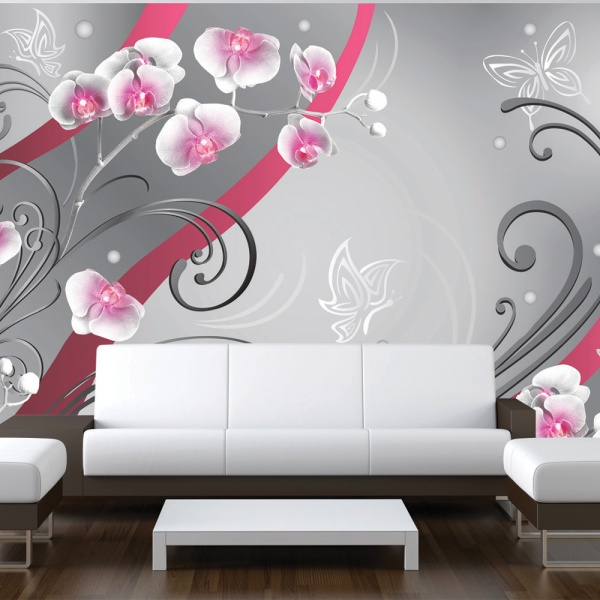 Fototapeta - Różowe orchidee - wariacja (300x210 cm) A0-XXLNEW010174