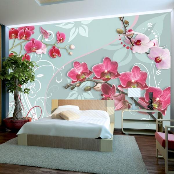 Fototapeta - Różowe orchidee - wariacja II (300x210 cm) A0-XXLNEW010237