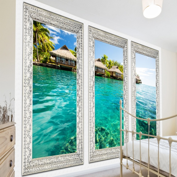 Fototapeta - Samotna wyspa (300x210 cm) A0-XXLNEW010213