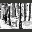 Fototapeta - schody - Montmartre A0-F4TNT0050-P