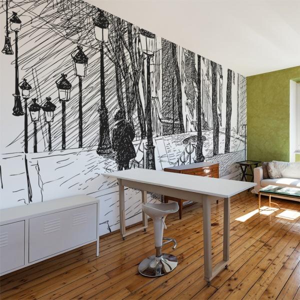 Fototapeta - schody - Montmartre (450x270 cm) A0-F4TNT0050-P