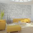 Fototapeta - Ściana z białej surowej cegły A0-F5TNT0025-P
