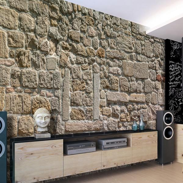 Fototapeta - Ściana z kamieni (300x210 cm) A0-XXLNEW011487