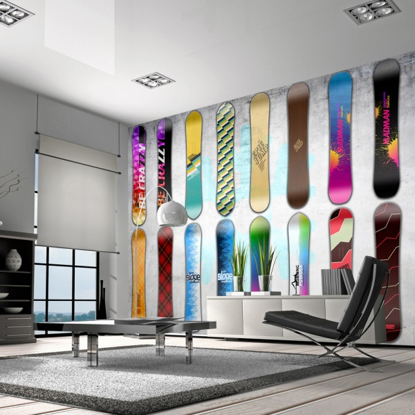 Fototapeta - Snowboard wall (300x210 cm) A0-XXLNEW010327