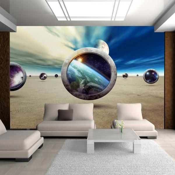 Fototapeta - Spacer planet (300x210 cm) A0-XXLNEW010467