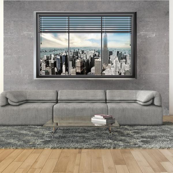 Fototapeta - Świat za oknem (300x210 cm) A0-XXLNEW010203