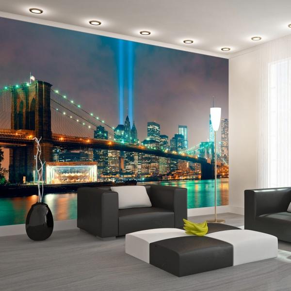 Fototapeta - Swiatła Nowego Jorku (300x210 cm) A0-XXLNEW011284