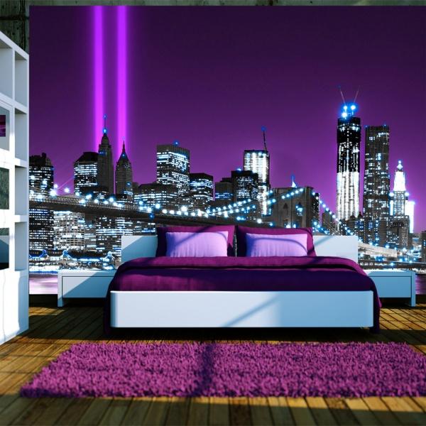 Fototapeta - Świetlisty Manhattan (300x210 cm) A0-XXLNEW010333