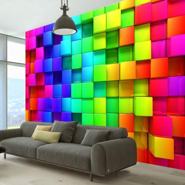 Fototapeta - Sześcian pełen koloru (300x210 cm) A0-XXLNEW011491