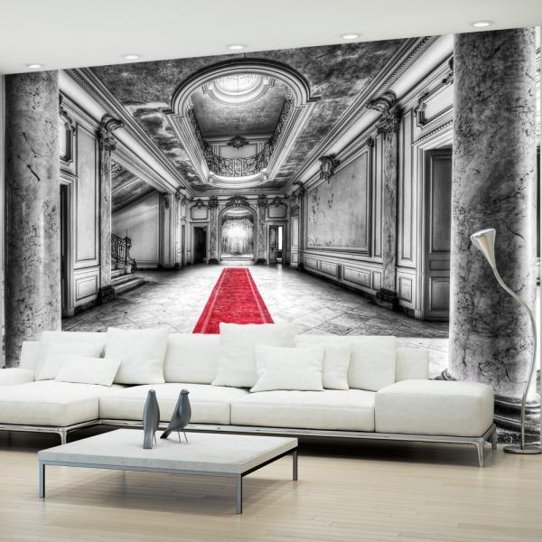 Fototapeta - Tajemnica marmuru - czarno-biała (300x210 cm) A0-XXLNEW010385
