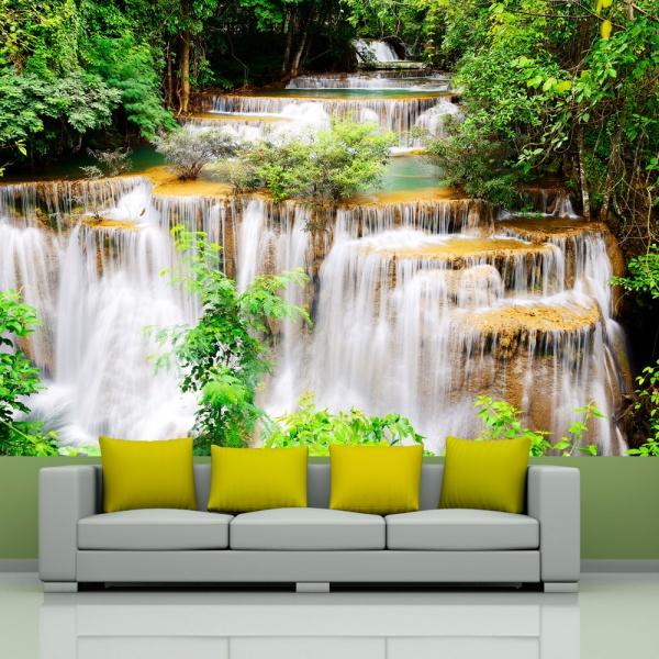 Fototapeta - Tajlandzki wodospad (300x210 cm) A0-XXLNEW010510