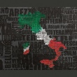 Fototapeta - Text map of Italy A0-F4TNT0130-P