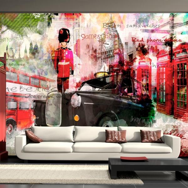 Fototapeta - Ulice Londynu (300x210 cm) A0-XXLNEW010131