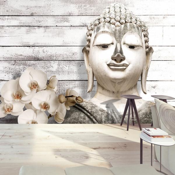 Fototapeta - Uśmiechnięty Budda (300x210 cm) A0-XXLNEW011425