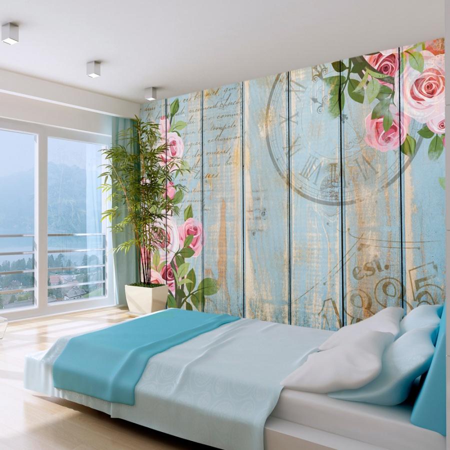 Fototapete Schlafzimmer 3d Blumen: Vintage Garden (300x210 Cm)
