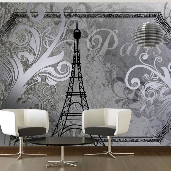 Fototapeta - Vintage Paris - srebrny (300x210 cm) A0-XXLNEW010409