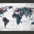 Fototapeta - World map on the wall A0-F4TNT0112-P