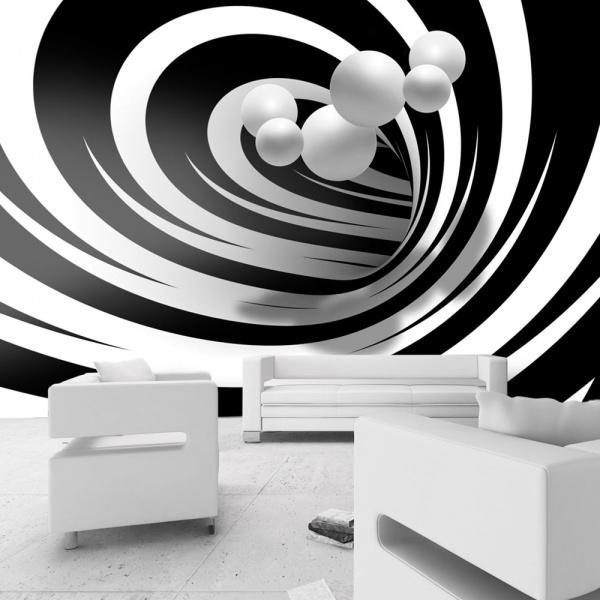 Fototapeta - Zakręceni w bieli i czerni (300x210 cm) A0-XXLNEW011496