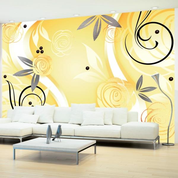 Fototapeta - Żółte róże (300x210 cm) A0-XXLNEW010312