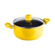 Garnek 4,6l z pokrywką Lamart Multicolor żółty