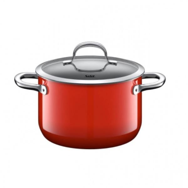 Garnek duży 3,7L Silit Passion Red czerwony 20cm 21.0229.7062